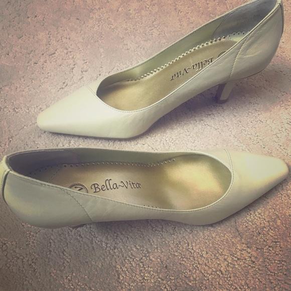 Bella Vita Shoes - Bella~Vita Wow Celery Kid Leather Pumps